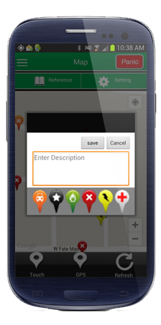 gps mapping emergency response app